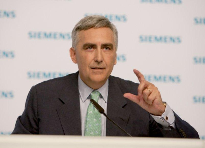"""""""Siemens"""" vadovas Peter Loscheris"""