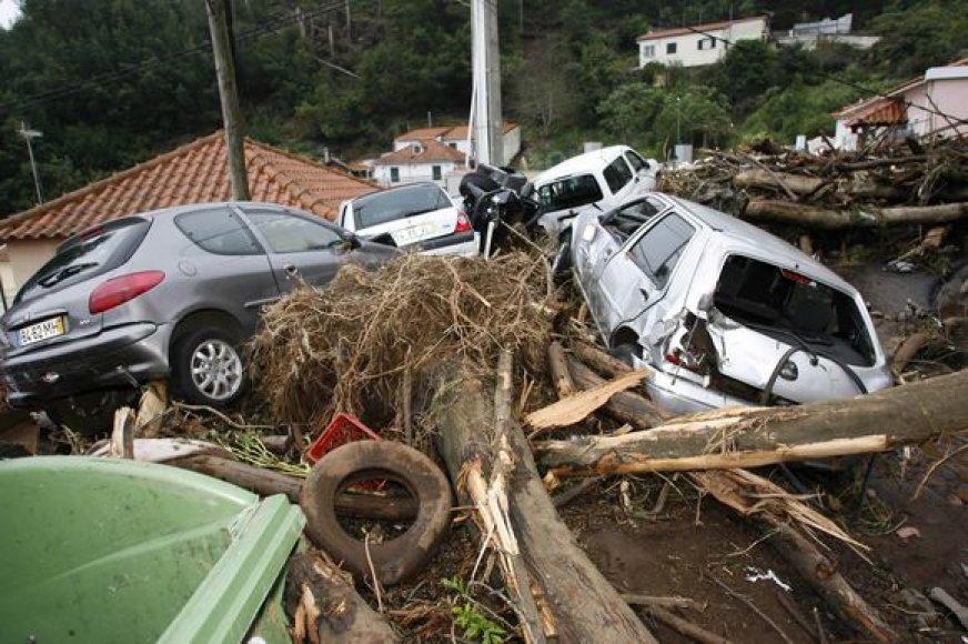 Potvynis Madeiroje