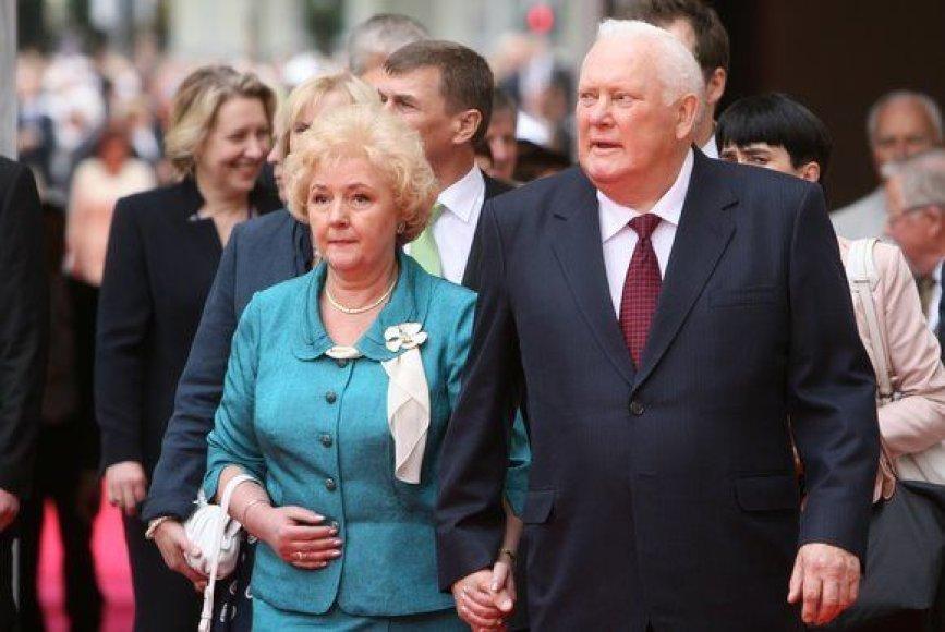 A.Brazauskas dalyvavo iškilmėse, surengtose Valdovų rūmų atstatymui