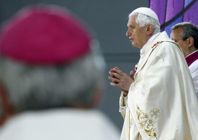 Susitikimo su popiežiumi akimirka