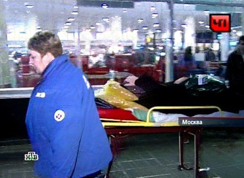 Domodedovo oro uoste susisprogdino mirtininkas