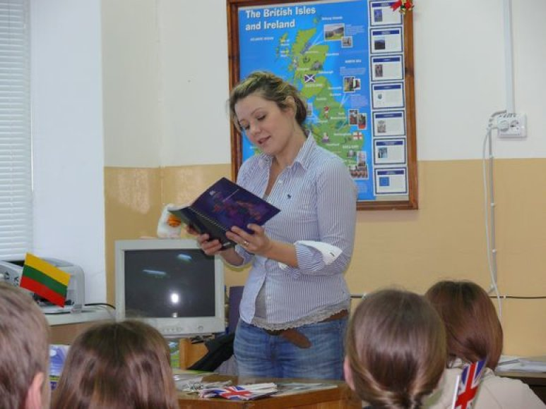 Beata Nicholson pamokos metu