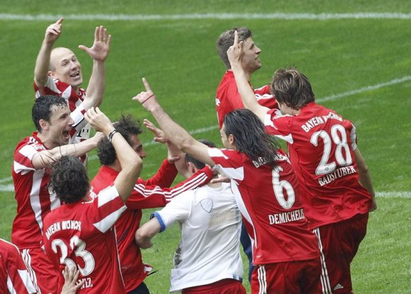 """""""Bayern"""" futbolininkų triumfas"""