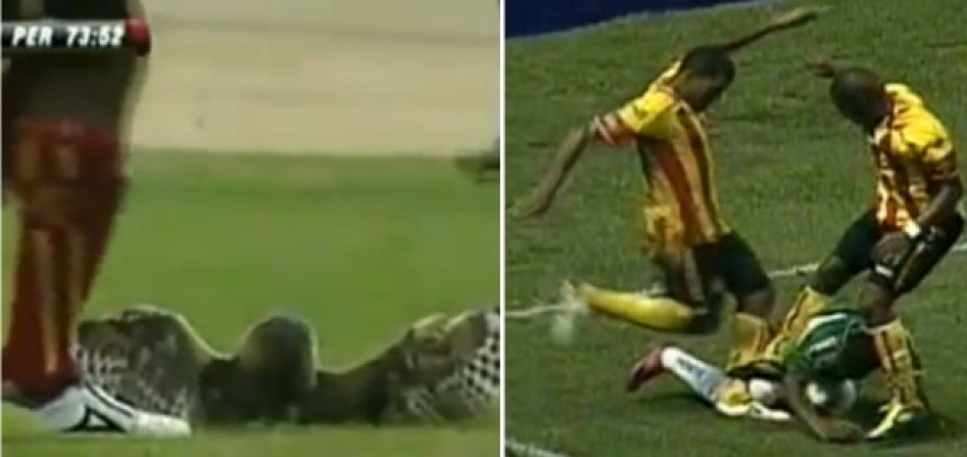 Prieš mėnesį pelėdą spyriu nužudęs Luisas Moreno dabar užsipuolė futbolininką