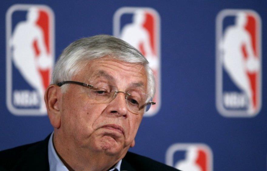 NBA lygos komisaras Davidas Sternas