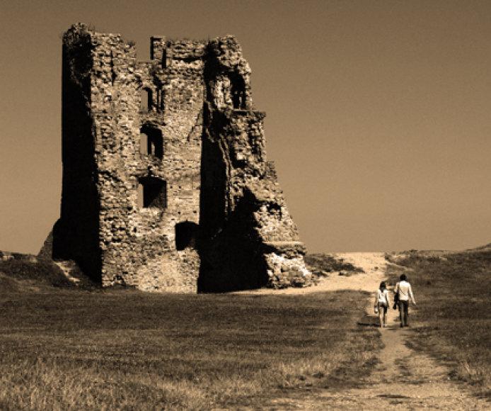 Naugarduko tvirtovės mūrai.