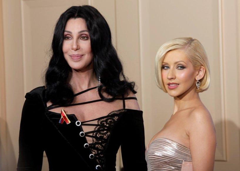 Cher ir Christina Aguilera