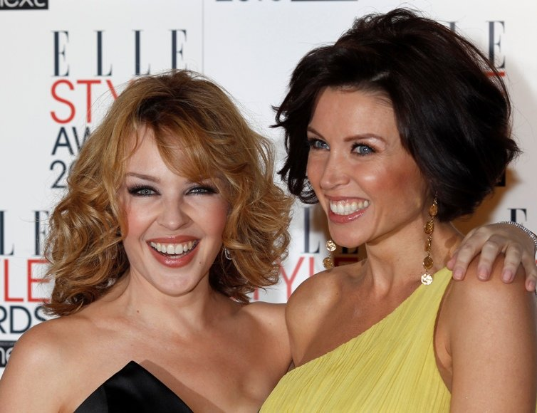 Dannii (dešinėje) ir Kylie Minogue