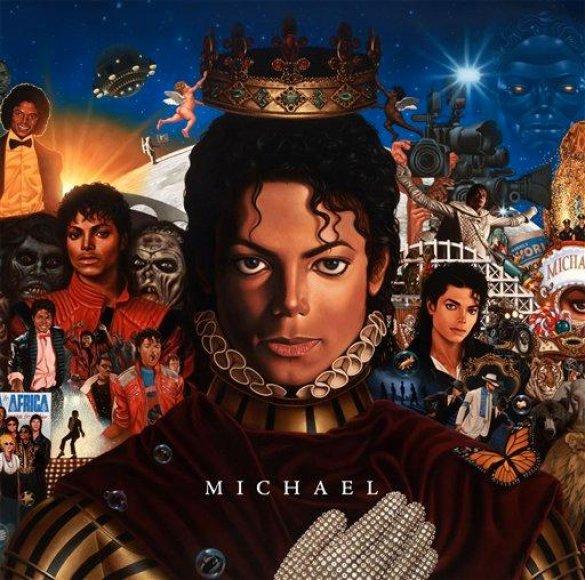 """M.Jacksono albumo """"Michael"""" viršelis"""