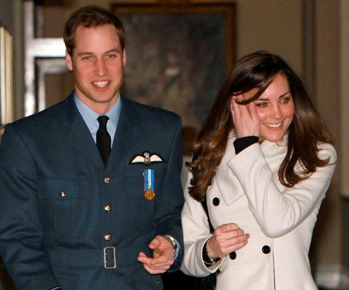 Didžiosios Britanijos princas Williamas ir jo mylimoji Kate Middleton