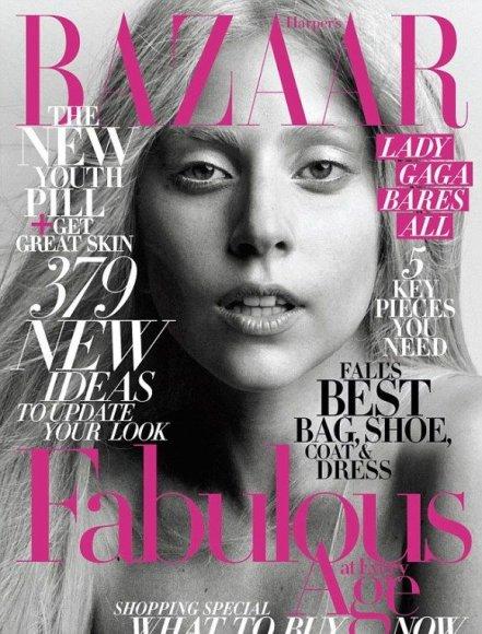 Žurnalo viršelis su nepasidažiusia Lady Gaga