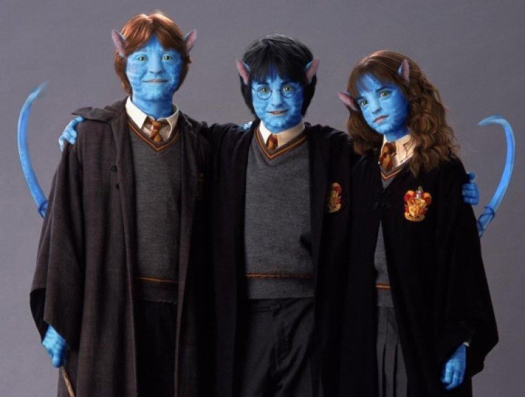 """""""Įsikūnijimo"""" """"ateiviais"""" perdaryti filmo """"Haris Poteris"""" aktoriai."""
