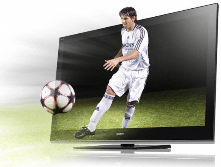 """Didelis 3D televizoriaus minusas – nedidelė ekrano aprėptis. Žiūrint iš toliau televizoriuje matomas tik nežymiai """"pakylėtas"""" vaizdas."""