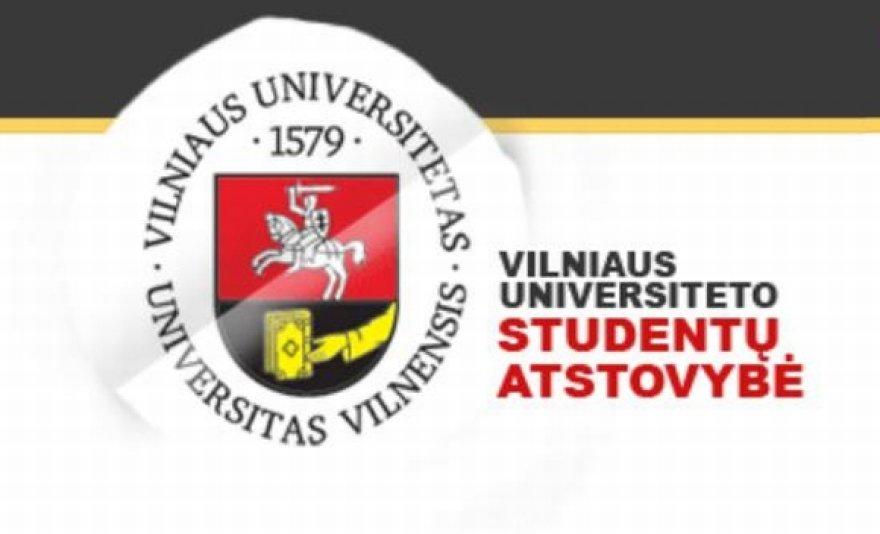 Vilniaus universiteto studentų atstovybės logotipas.
