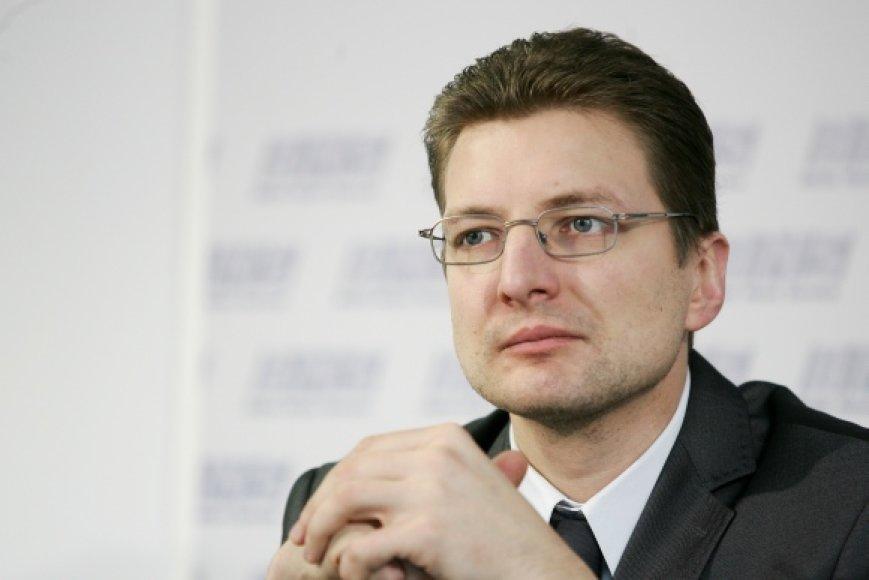 Žurnalistų sąjungos pirmininkas Dainius Radzevičius.
