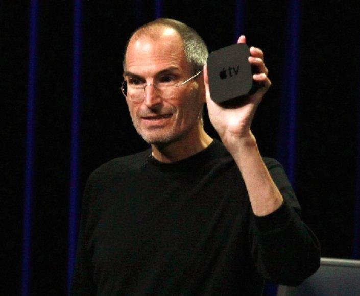 """S.Jobso rankoje – naujasis """"Apple TV""""."""
