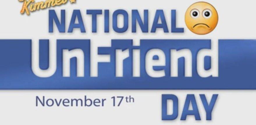 Nacionalinės nedraugų atsikratymo dienos logotipas.
