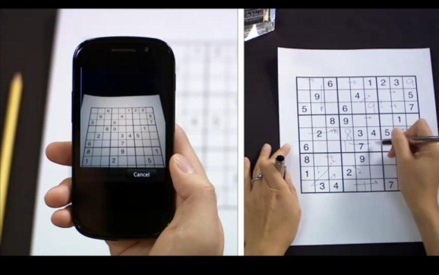 """""""Google"""" programa """"Goggles"""" vos per kelias sekundes gali išspręsti galvosūkį """"Sudoku""""."""