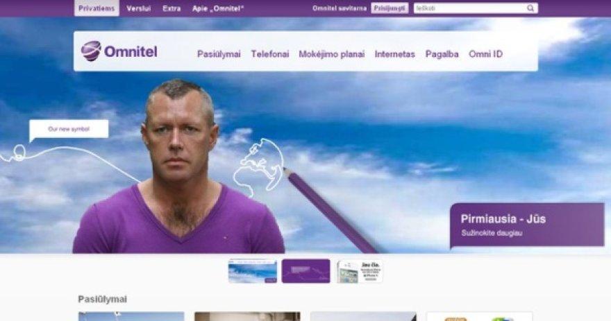 """Internete plintančiame montaže ant """"Omnitel"""" svetainės """"užklijuota"""" D.Kedžio nuotrauka."""