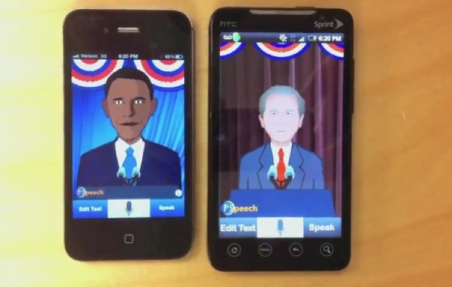 """iSpeech"" programėlės leidžia pašnekėti JAV prezidentų Baracko Obamos ar George'o W.Busho balsais."