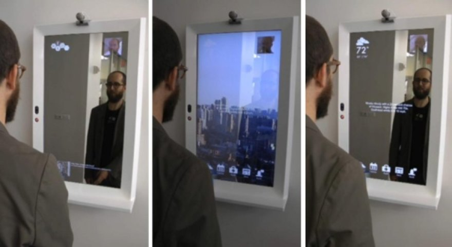 Išmanusis veidrodis ne tik atspindi priešais jį stovintį žmogų, bet ir leidžia jam sužinoti aktualiausias naujienas, orus, situaciją už lango, keliuose bei kitą informaciją.