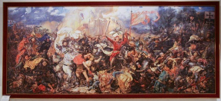 """Jano Mateikos paveikslo """"Žalgirio mūšis"""" reprodukcija"""