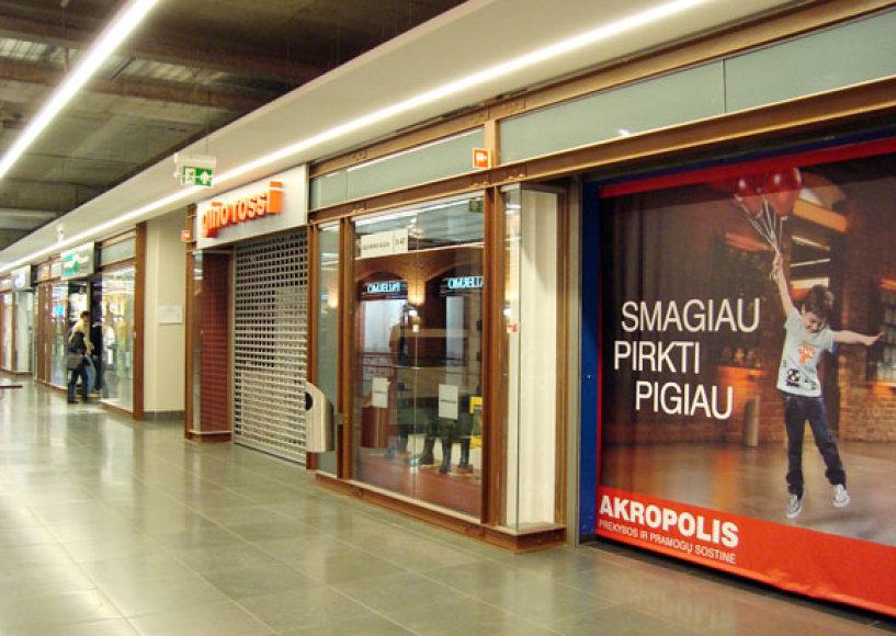 """Kauno """"Akropolyje"""" nedirba dalis parduotuvių"""