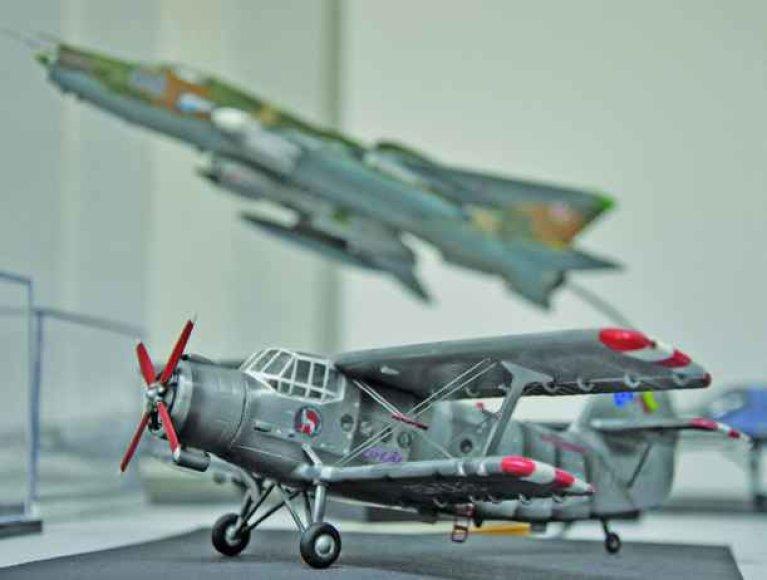 Muziejuje bus galima apžiūrėti kelis šimtus aviacijos miniatiūrų.