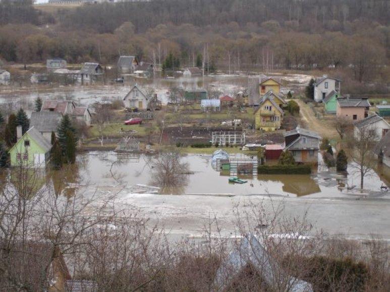Potvynis Kauno rajone