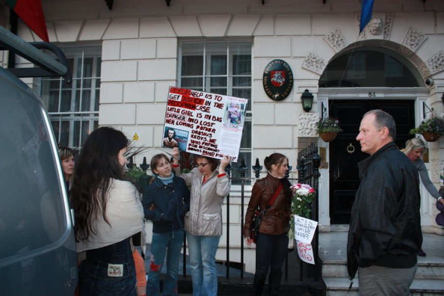 Lietuvių protesto akcija