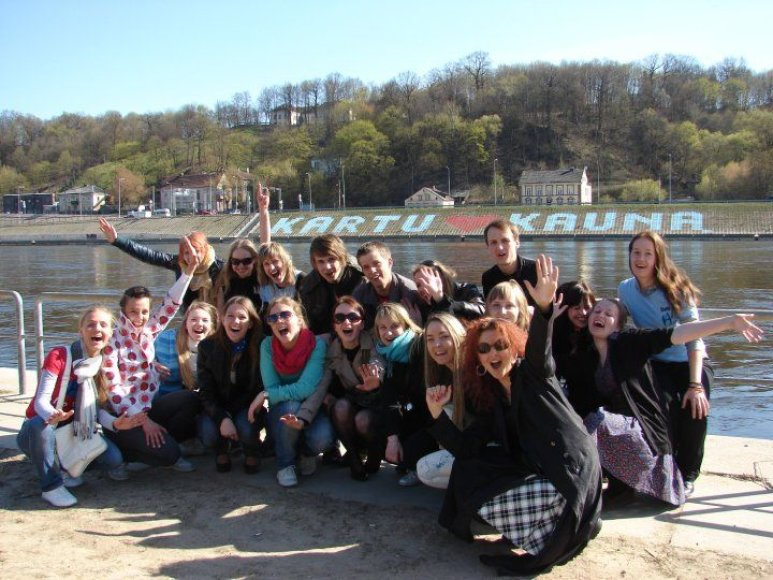 Studentai tikisi, kad jų akcija įkvėps kauniečius gražinti savo miestą.