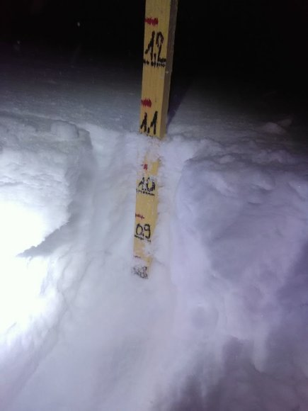 Asmeninė nuotr./Sniego pusnys siekė daugiau nei 1 metrą