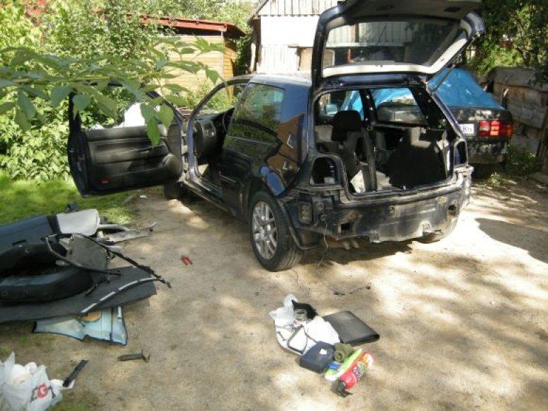 Operacijos metu rastas, kaip įtariama, vogtas automobilis