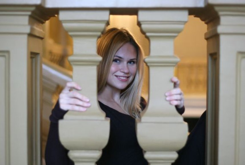 Ona Kolobovaitė, Kauno muzikinio teatro premjero atliksianti pagrindinį vaidmenį.
