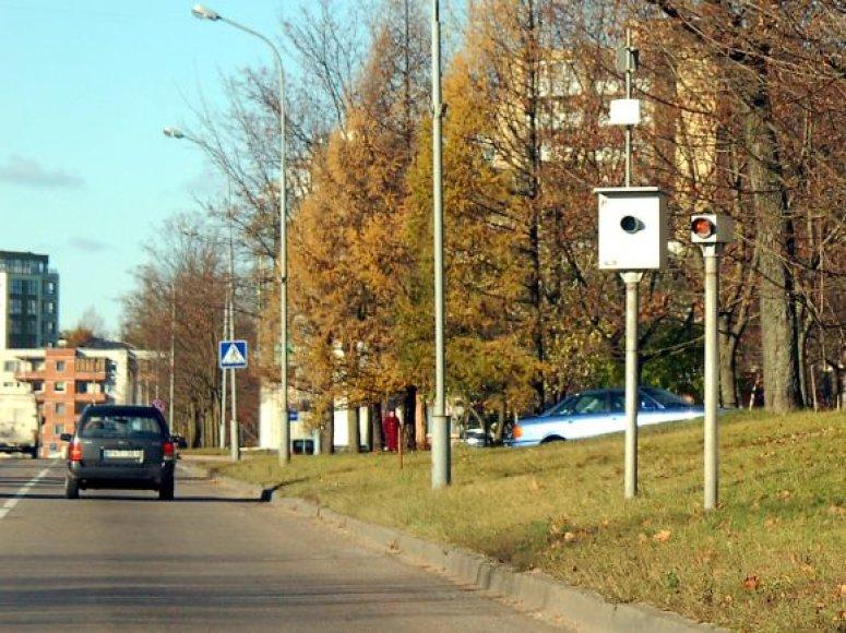 Greičio matuokliai Vilniuje vėl veiks
