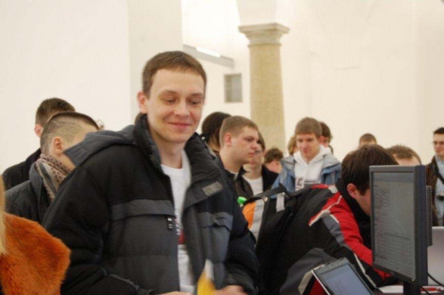 Robotų olimpiadoje laimėjo klaipėdietis V.Rodnovas