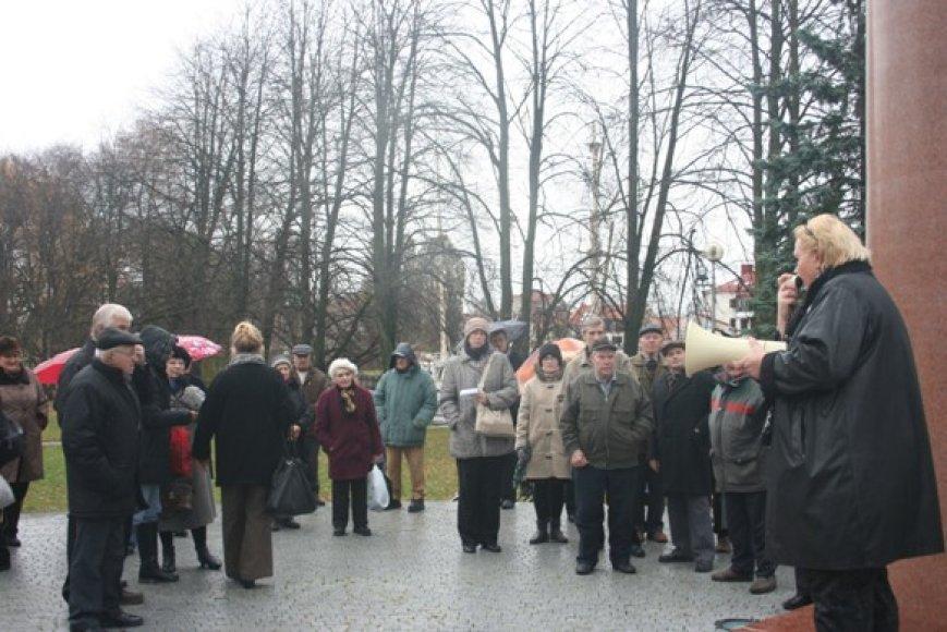 Piketuotojai išreiškė nepasitenkinimą dėl dabartinės politinės situacijos. 2010 m. lapkričio 6 d.