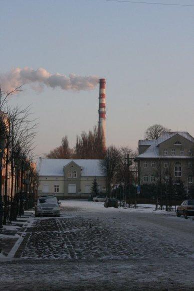 """""""Klaipėdos energijos"""" kaminas."""