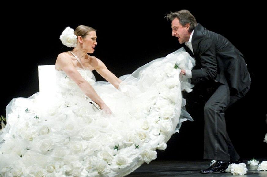 """""""Duetuose"""" žiūrovai išvys tik du aktorius – D. Kazlauską ir V.Kuodytę."""