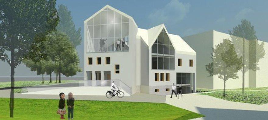 Jauni architektai pateikė savo siūlymus, kaip turėtų atrodyti Informacijos ir paramos gausiai šeimai centras.