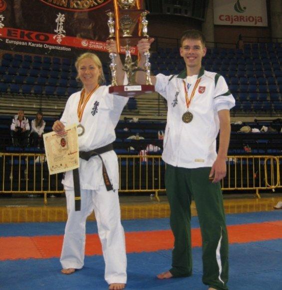 Diana Maciūtė sužibėjo Europos čempionate. Jos mokinys Artur užėmė septintąją vietą.