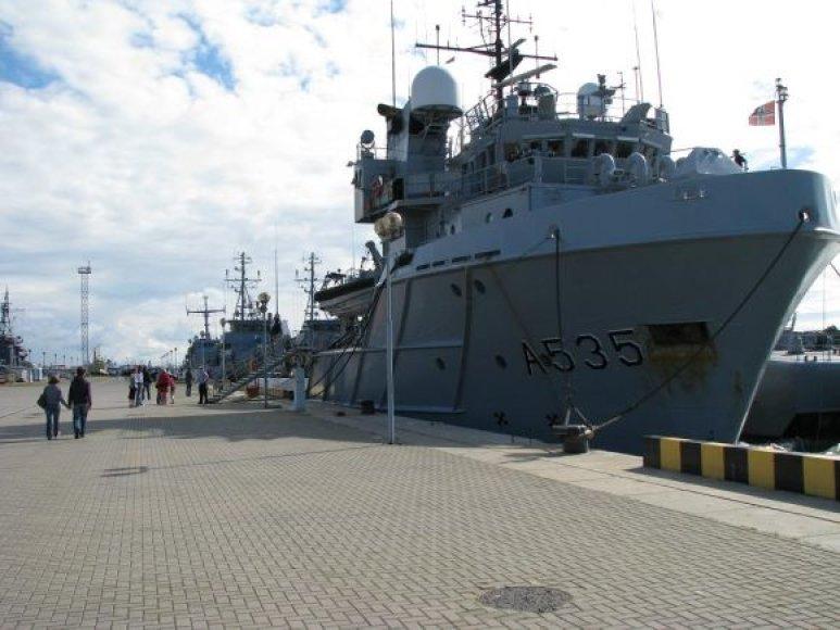 Klaipėdiečiai sekmadienį kviečiami apsilankyti kariniuose laivuose.