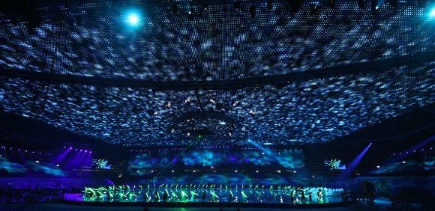 Astana arenoje lietuviai sumontavo didžiulius LED ekranus.