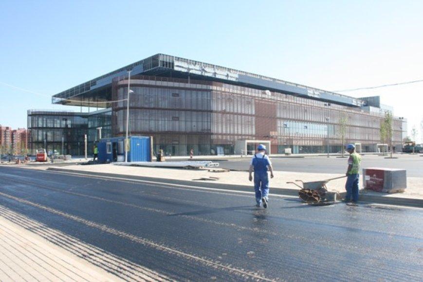 Klaipėdos areną trečiadienį apžiūrėję FIBA Europe atstovai liko patenkinti.