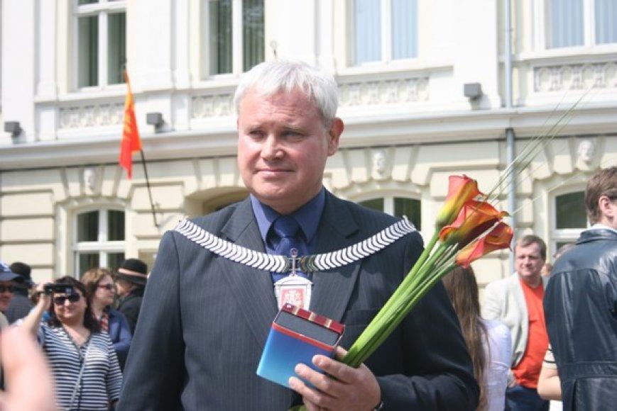 Iškilmingai inauguruotas Klaipėdos meras Vytautas Grubliauskas.