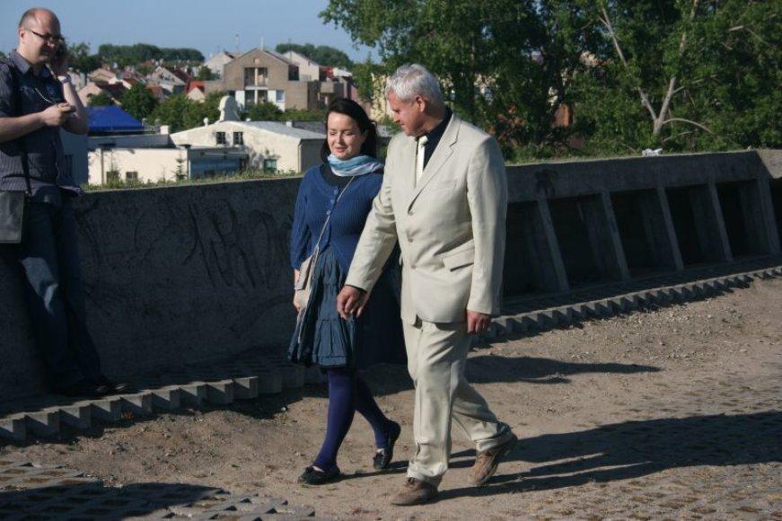 Klaipėdos meras Vytautas Grubliauskas su žmona Inga