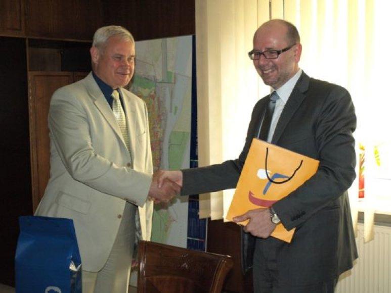 Čekijos ambasadorius Radek Pech antradienį lankėsi pas Klaipėdos merą.