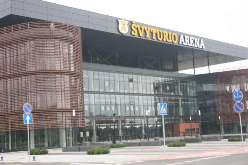 """Klaipėdos arena pavadinta """"Švyturio"""" vardu."""