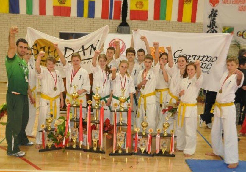 Klaipėdiečių komanda varžybose Lenkijoje.
