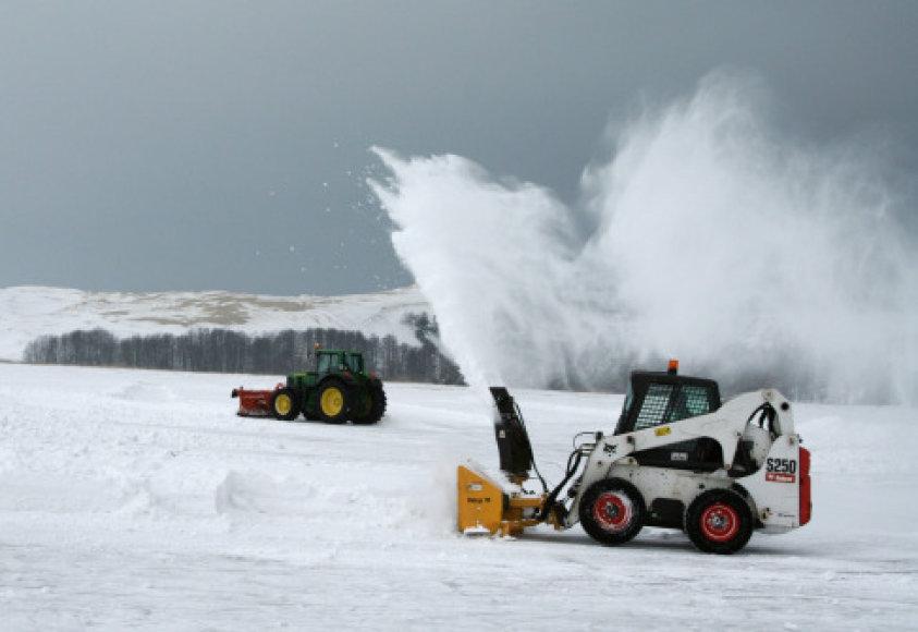 Ledas ruošiamas čempionatui.